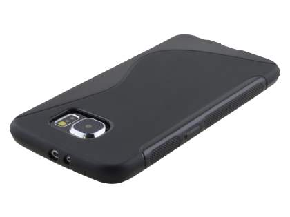 Samsung Galaxy S6 Wave Case - Frosted Black/Black