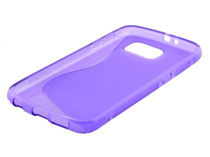 Samsung Galaxy S6 Wave Case - Frosted Purple/Purple