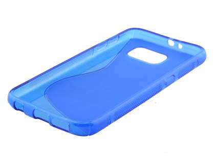 Samsung Galaxy S6 Wave Case - Frosted Blue/Blue
