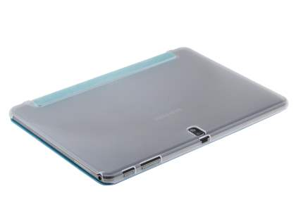 Samsung Galaxy Note 10.1 (2014 Edition) Book-Style Case with Stand - Teal/Frosted Clear
