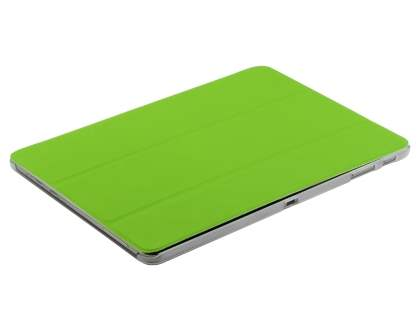 Samsung Galaxy Note 10.1 (2014 Edition) Book-Style Case with Stand - Green/Frosted Clear