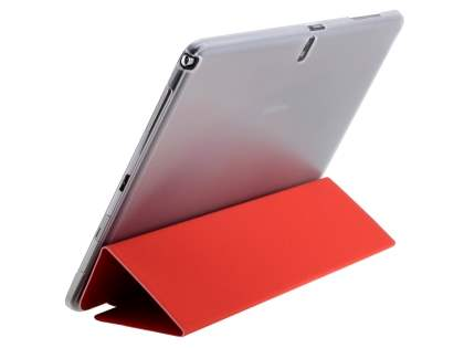 Samsung Galaxy Note 10.1 (2014 Edition) Book-Style Case with Stand - Red/Frosted Clear