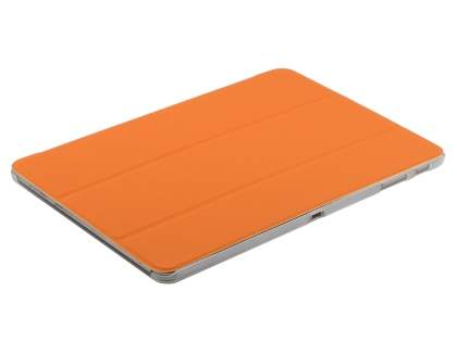 Samsung Galaxy Note 10.1 (2014 Edition) Book-Style Case with Stand - Orange/Frosted Clear