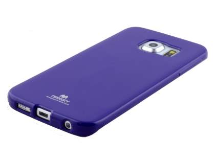Mercury Goospery Glossy Gel Case for Samsung Galaxy S6 Edge - Purple