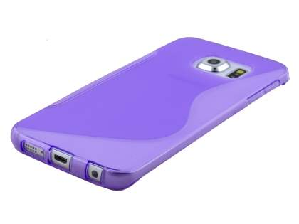 Samsung Galaxy S6 Edge Wave Case - Frosted Purple/Purple