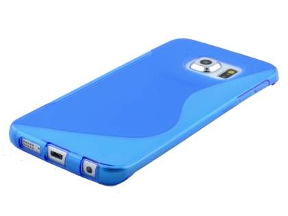 Wave Case for Samsung Galaxy S6 Edge - Frosted Blue/Blue