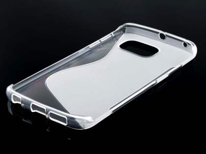 Samsung Galaxy S6 Edge Wave Case - Frosted Clear/Clear