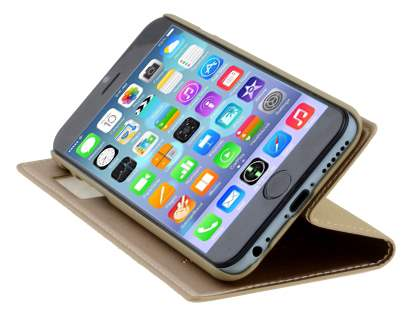TS-CASE iPhone 6s/6 4.7 inches Slim Synthetic Leather Window View Case with Stand - Camel
