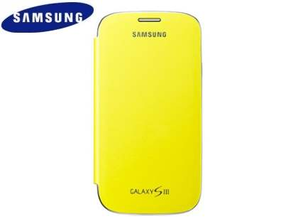 Genuine Samsung Flip Cover for Samsung I9300 Galaxy S3 - Yellow