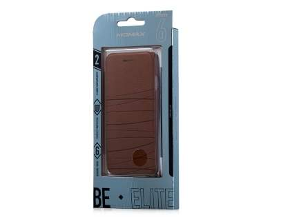 Momax Elite Premium Flip Cover for iPhone 6s/6 - Brown