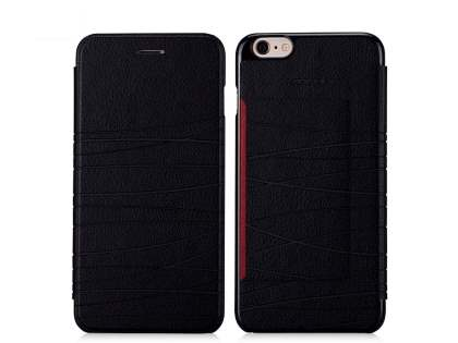Momax Elite Premium Flip Cover for iPhone 6s/6 4.7 inches - Classic Black