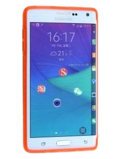 Samsung Galaxy Note Edge Wave Case - Frosted Orange/Orange
