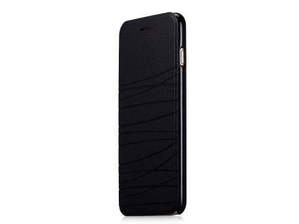 Momax Elite Premium Flip Cover for iPhone 6s Plus/6 Plus - Classic Black