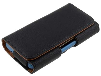 Textured Synthetic Leather Belt Pouch - Bumper Case Compatible