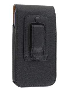 Textured Synthetic Leather Vertical Belt Pouch for Phones