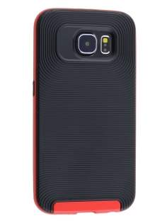 Samsung Galaxy S6 Textured Impact Case - Classic Black/Red