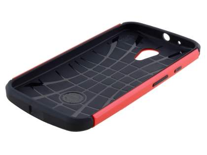 Motorola Moto G 2nd Gen Impact Case - Red/Black