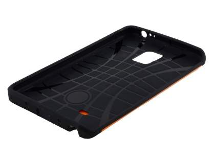 Samsung Galaxy Note Edge Impact Case - Orange/Black