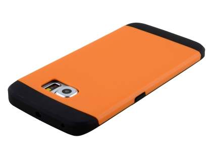 Samsung Galaxy S6 Edge Impact Case - Orange/Black