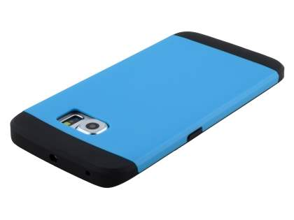 Samsung Galaxy S6 Edge Impact Case - Sky Blue/Black