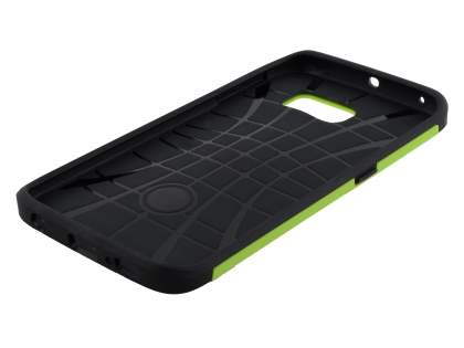 Samsung Galaxy S6 Edge Impact Case - Green/Black