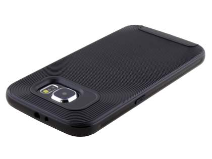 Samsung Galaxy S6 Textured Impact Case - Classic Black