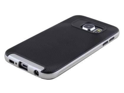 Textured Impact Case for Samsung Galaxy S6 - Classic Black/Silver