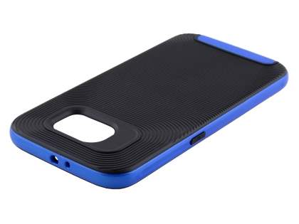 Textured Impact Case for Samsung Galaxy S6 - Classic Black/Blue