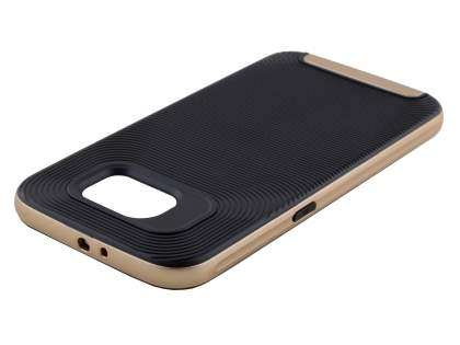 Textured Impact Case for Samsung Galaxy S6 - Classic Black/Golden