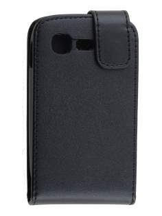 Samsung Galaxy Pocket Neo S5310 Synthetic Leather Flip Case - Black