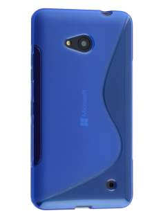Wave Case for Microsoft Lumia 640 - Frosted Blue/Blue Soft Cover