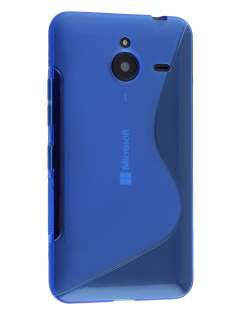 Wave Case for Microsoft Lumia 640 XL - Frosted Blue/Blue Soft Cover