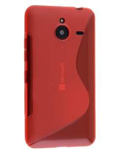 Wave Case for Microsoft Lumia 640 XL - Frosted Red/Red Soft Cover