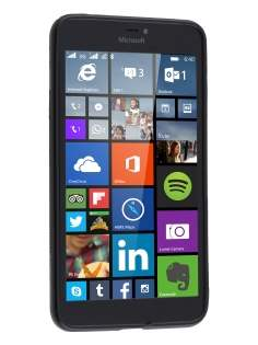 Microsoft Lumia 640 XL Wave Case - Frosted Black/Black