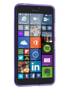Wave Case for Microsoft Lumia 640 XL - Frosted Purple/Purple