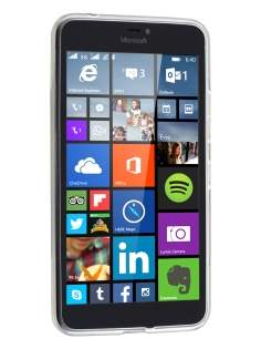 Microsoft Lumia 640 XL Wave Case - Frosted Clear/Clear