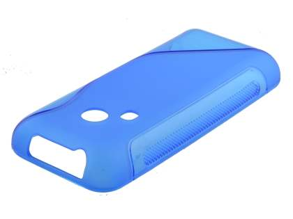 Nokia 220 Wave Case - Frosted Blue/Blue Soft Cover