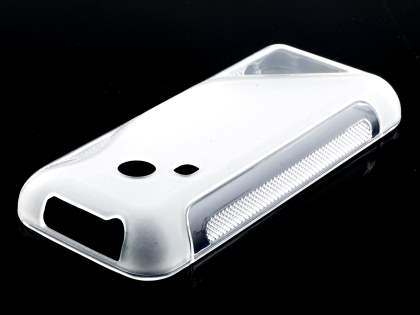 Nokia 220 Wave Case - Frosted Clear/Clear Soft Cover
