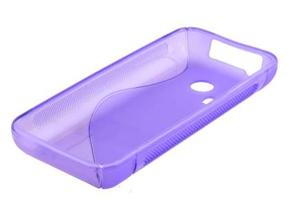 Wave Case for Nokia 220 - Frosted Purple/Purple