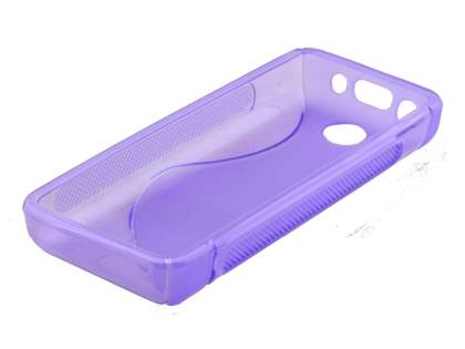 Wave Case for Nokia 108 - Frosted Purple/Purple