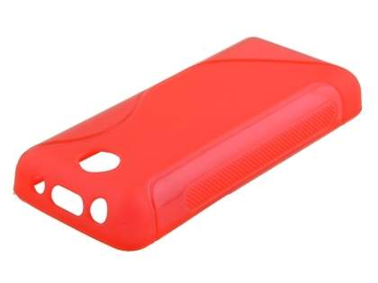 Nokia 108 Wave Case - Frosted Red/Red Soft Cover