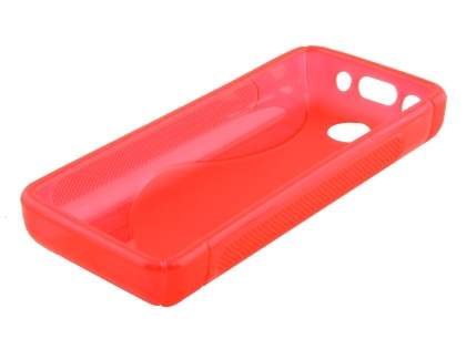 Nokia 108 Wave Case - Frosted Red/Red