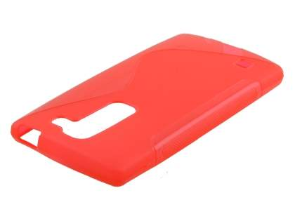 Wave Case for LG Spirit - Frosted Red/Red Soft Cover