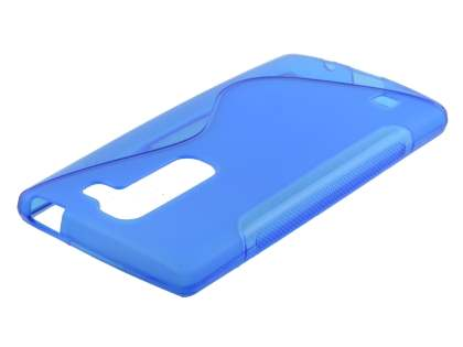 Wave Case for LG Spirit - Frosted Blue/Blue Soft Cover