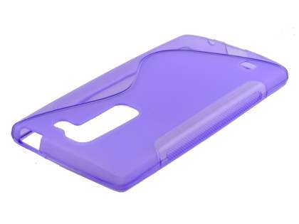 Wave Case for LG Spirit - Frosted Purple/Purple Soft Cover