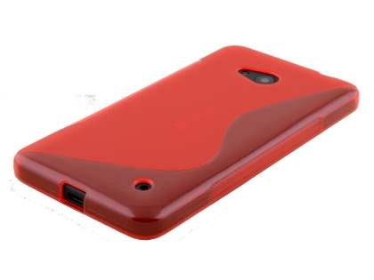Wave Case for Microsoft Lumia 640 - Frosted Red/Red