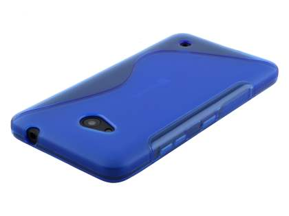 Microsoft Lumia 640 Wave Case - Frosted Blue/Blue