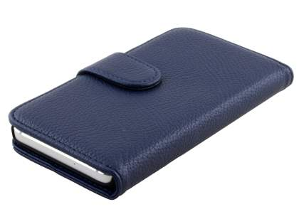 Synthetic Leather Wallet Case with Stand for Samsung Galaxy A3 A300F - Dark Blue