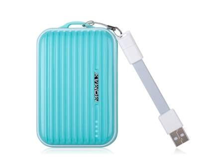 Momax iPower Go mini External Battery 8400mAh - Aqua Blue Power Bank