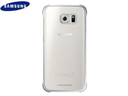 Genuine Samsung Galaxy S6 Edge Protective Cover - Clear/Silver